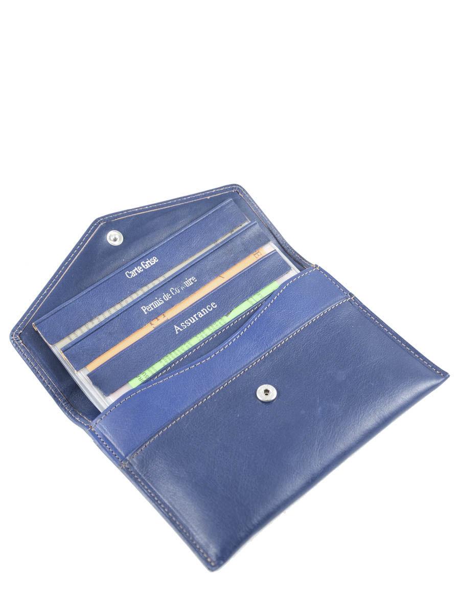 Porte papiers katana vachette gras bleu en vente au meilleur prix - La porte bleu belgique ...
