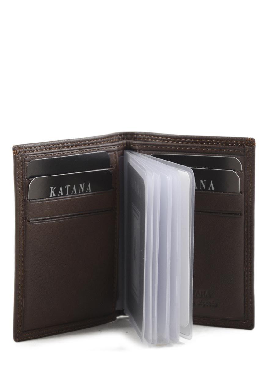 Porte-cartes Katana 753.038 marron fonce