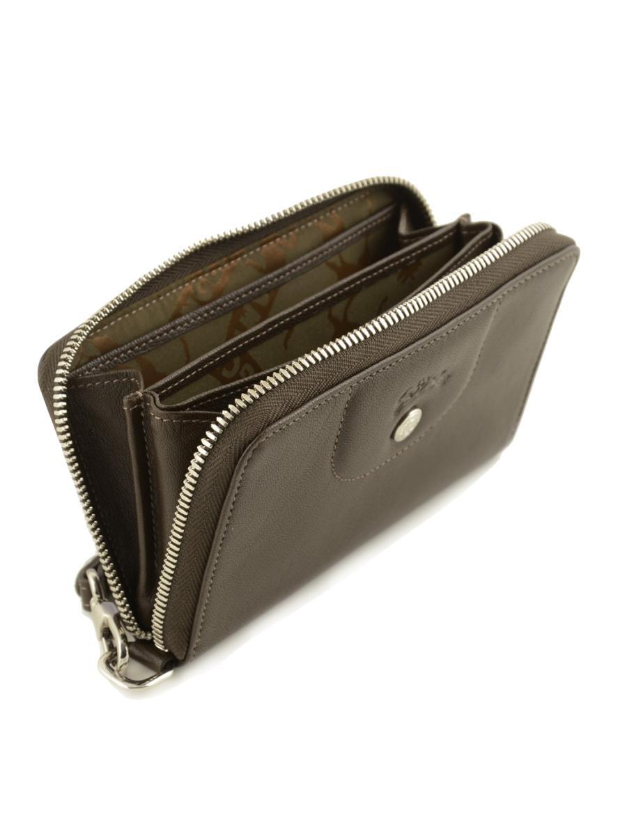 Portefeuille longchamp le pliage cuir taupe en vente au meilleur prix - Porte monnaie femme longchamp ...