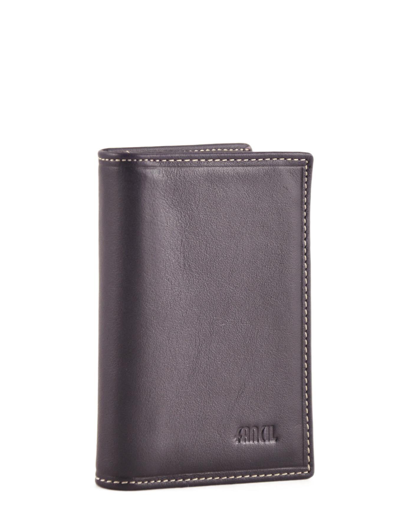 Guess Porte cartes en cuir - 6 cartes Noir pX4y5WZT