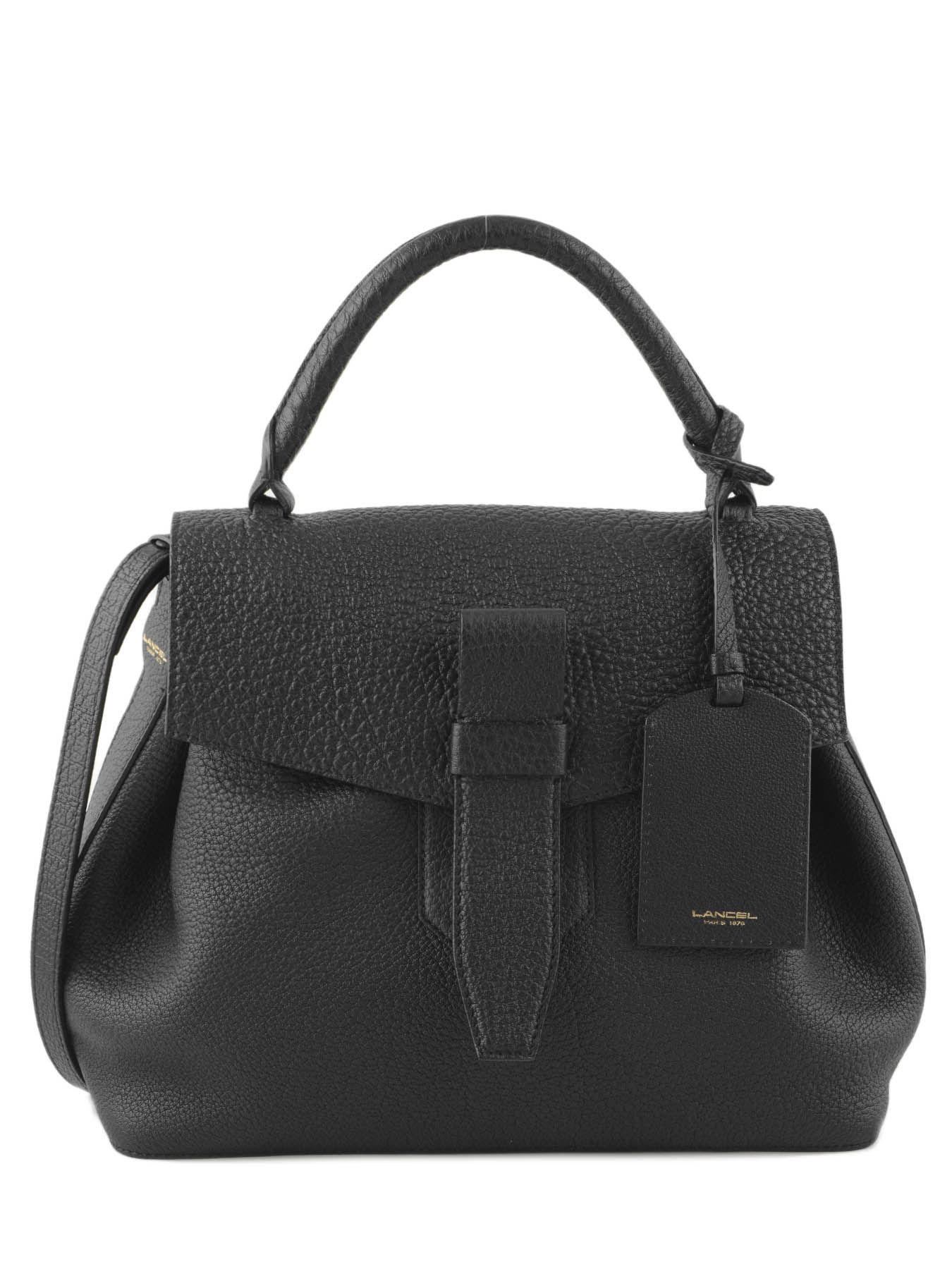 a5e2db6b3c Top Handle Charlie Leather Lancel Black charlie A06838 ...