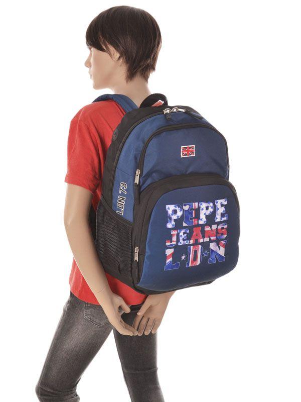 letters logo pepe jeans backpack 60626 best prices. Black Bedroom Furniture Sets. Home Design Ideas