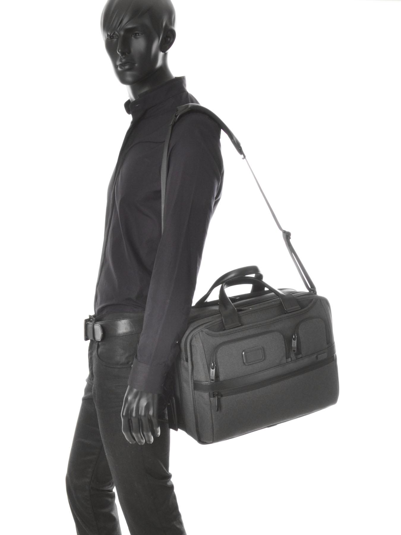 Briefcase Tumi Black alpha 2 business DH26141-vue-porte