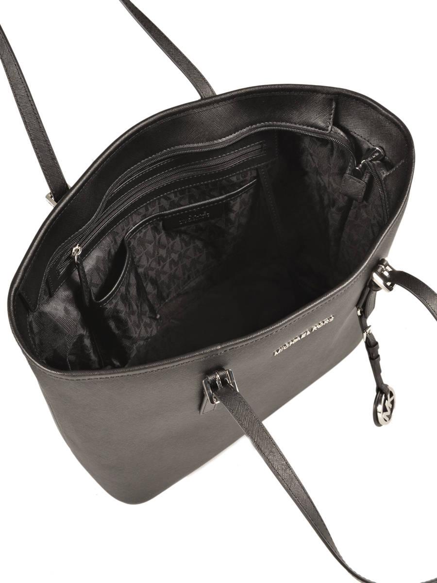 Michael Kors Shoulder Bag 30s4stvt2l Best Prices Jet Set Small Travel Satchel Pink Shopping Leather Black S4stvt2l Other View 5
