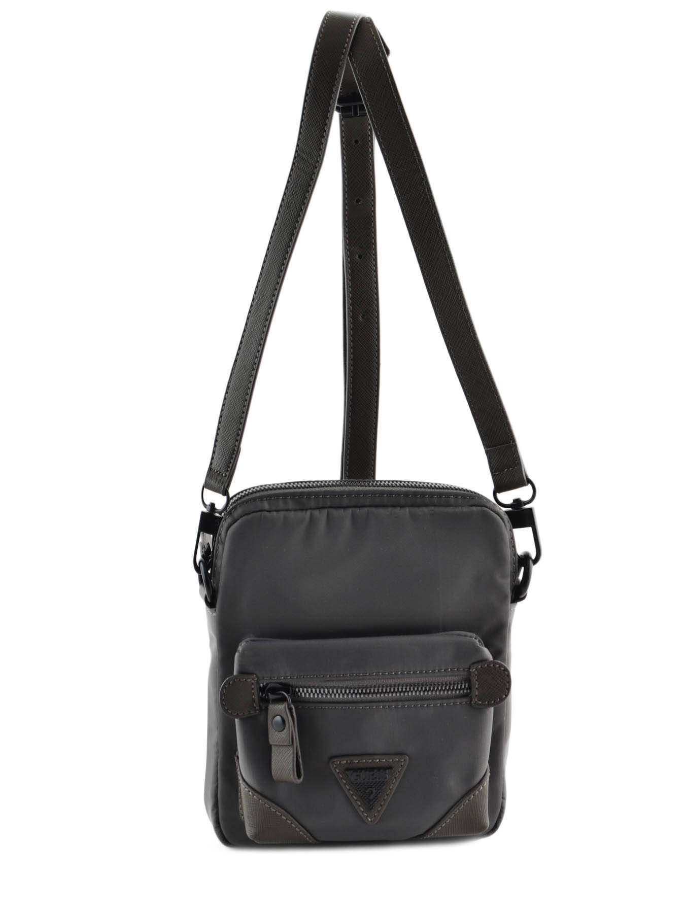 Sac à Bandoulière Guess Homme : Sac homme guess grey crossover nyl