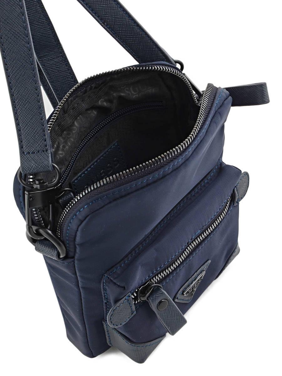 0297689327 Besace, sac bandoulière Guess HM.2549.NYL.61 blue - livraison gratuite