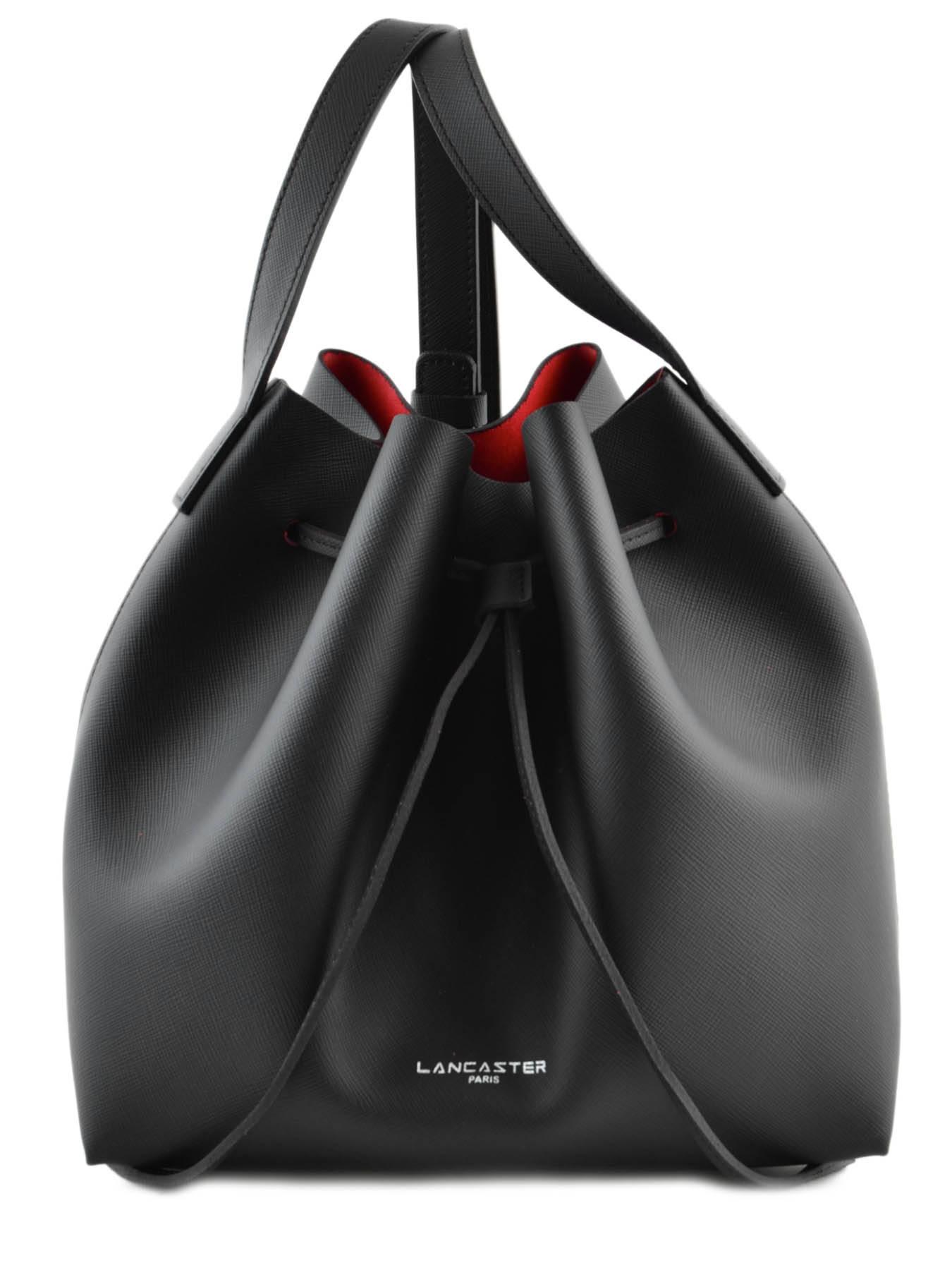 sac lancaster pur saffiano noir rouge en vente au meilleur prix. Black Bedroom Furniture Sets. Home Design Ideas