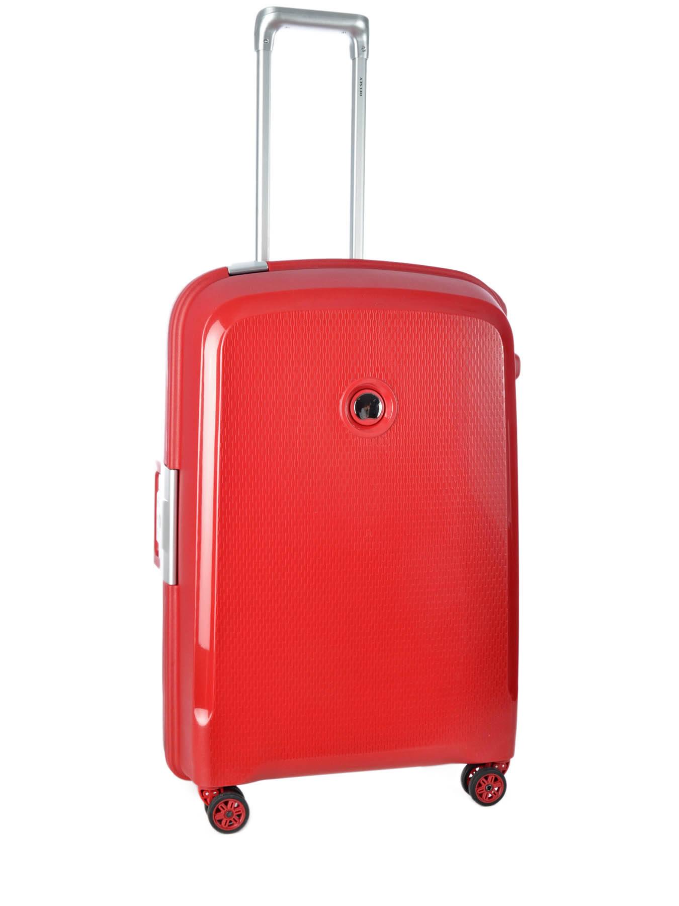 valise rigide delsey belfort rouge en vente au meilleur prix. Black Bedroom Furniture Sets. Home Design Ideas