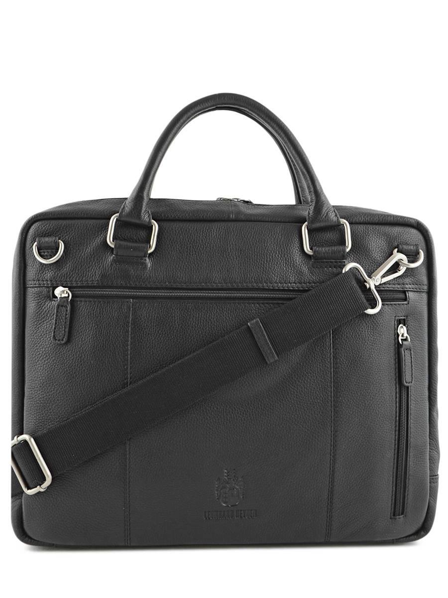 Leonhard Heyden Roma Serviette Attaché-case cuir 41 cm compartiment ordinateur portable noir msk4mNo