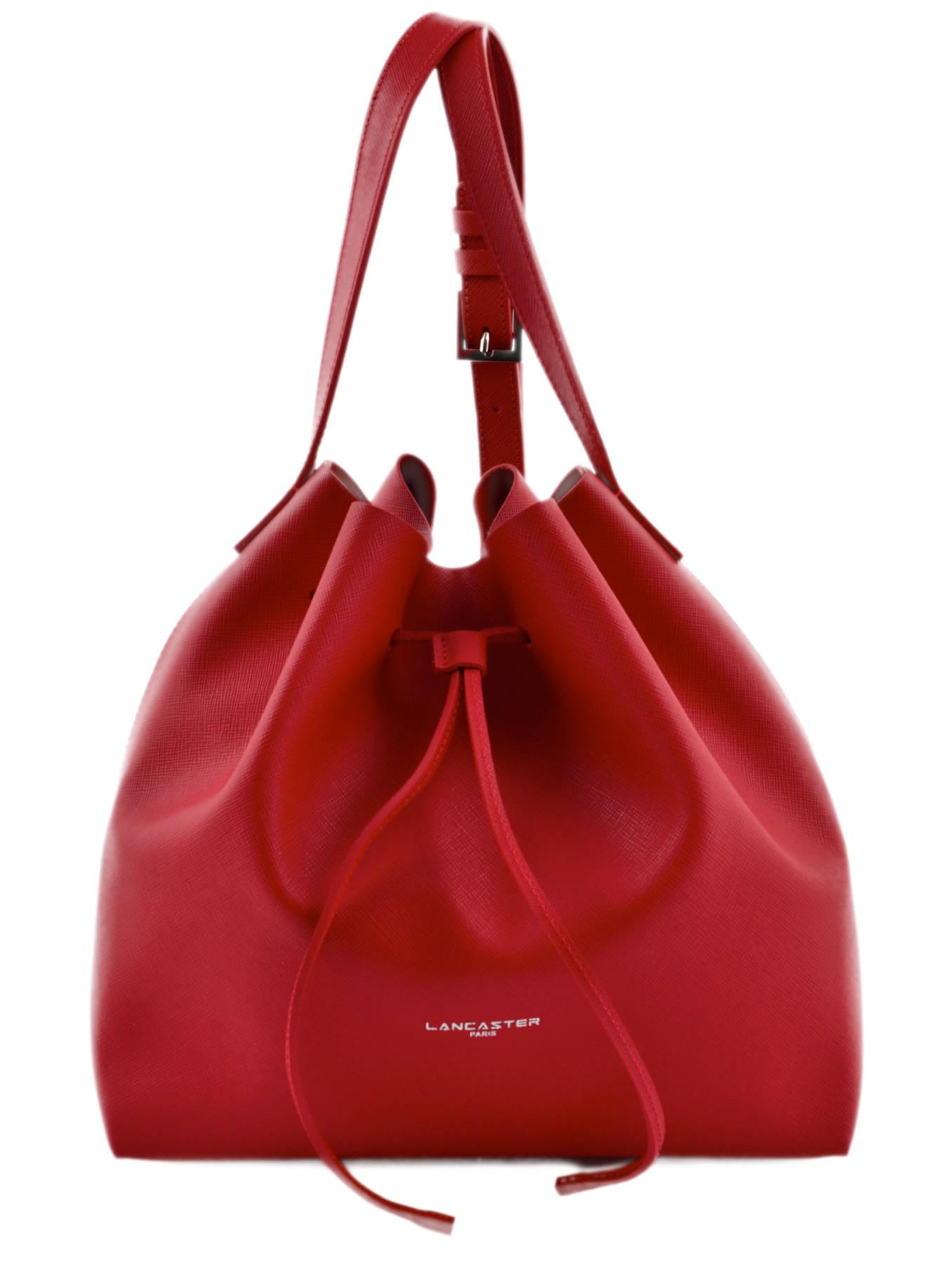 sac lancaster pur saffiano rouge en vente au meilleur prix. Black Bedroom Furniture Sets. Home Design Ideas