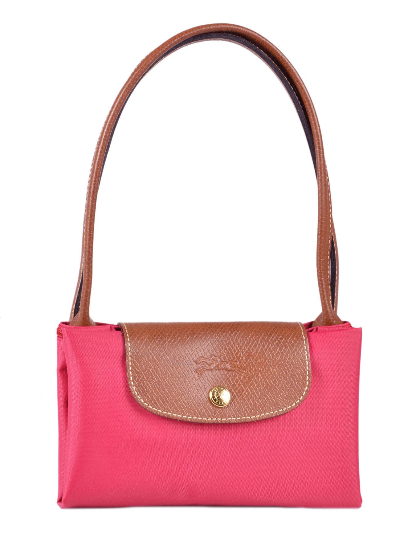 Sac Longchamp Besace Rose : Sac longchamp rose le pliage toile