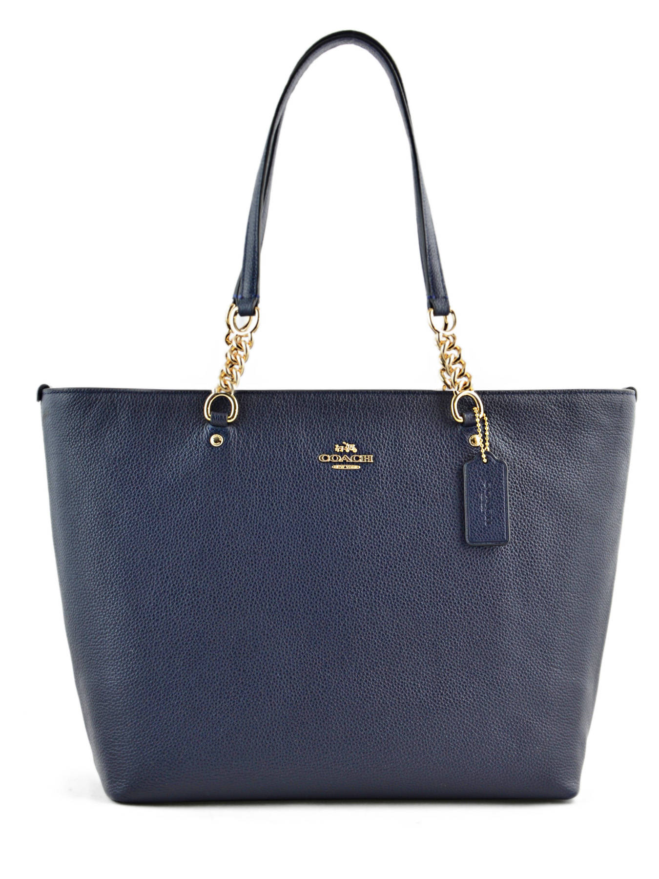 Ping Bag Casual Leather Coach Blue 36600