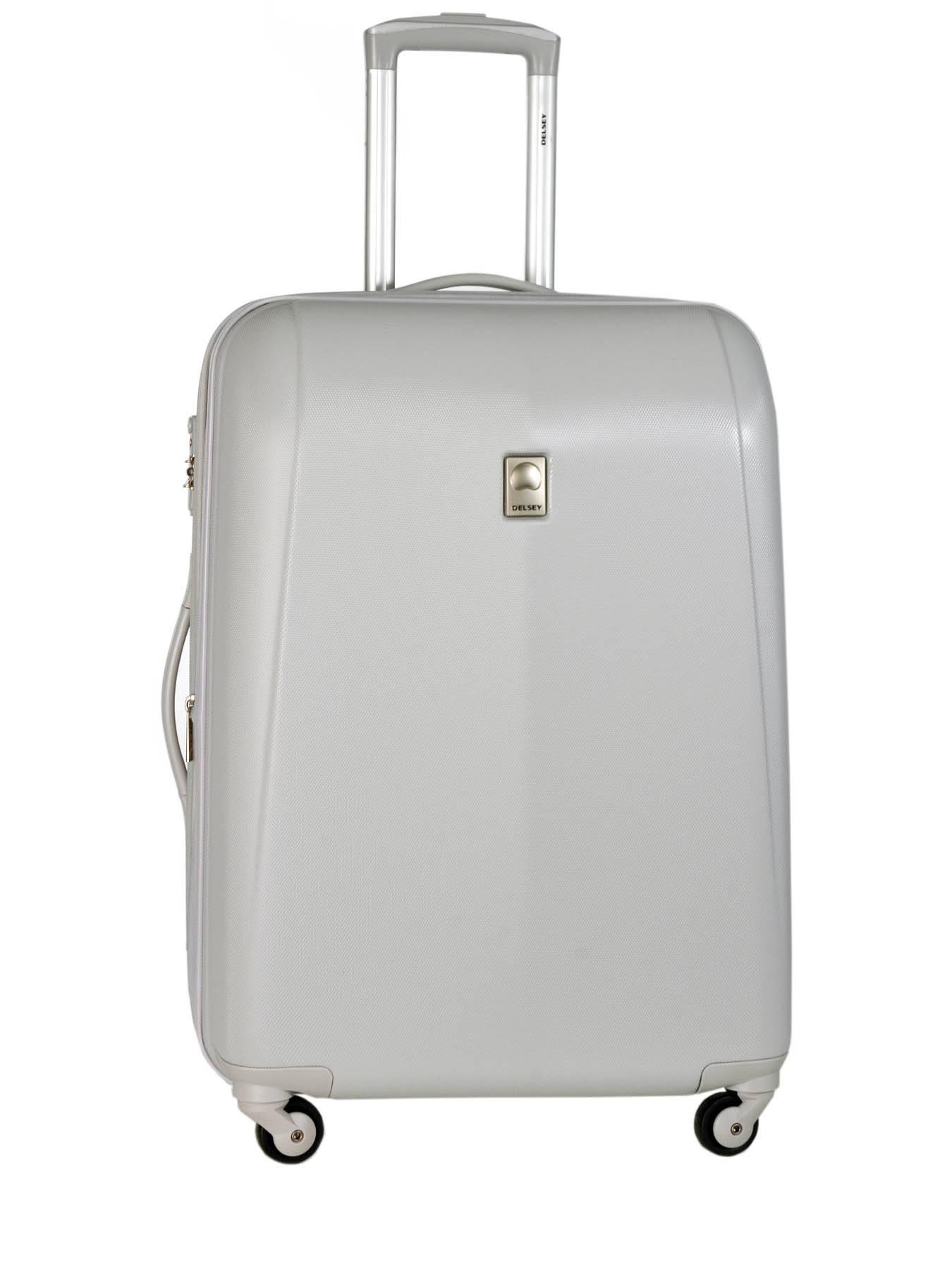 valise rigide delsey extendo 3 argent perle en vente au meilleur prix. Black Bedroom Furniture Sets. Home Design Ideas