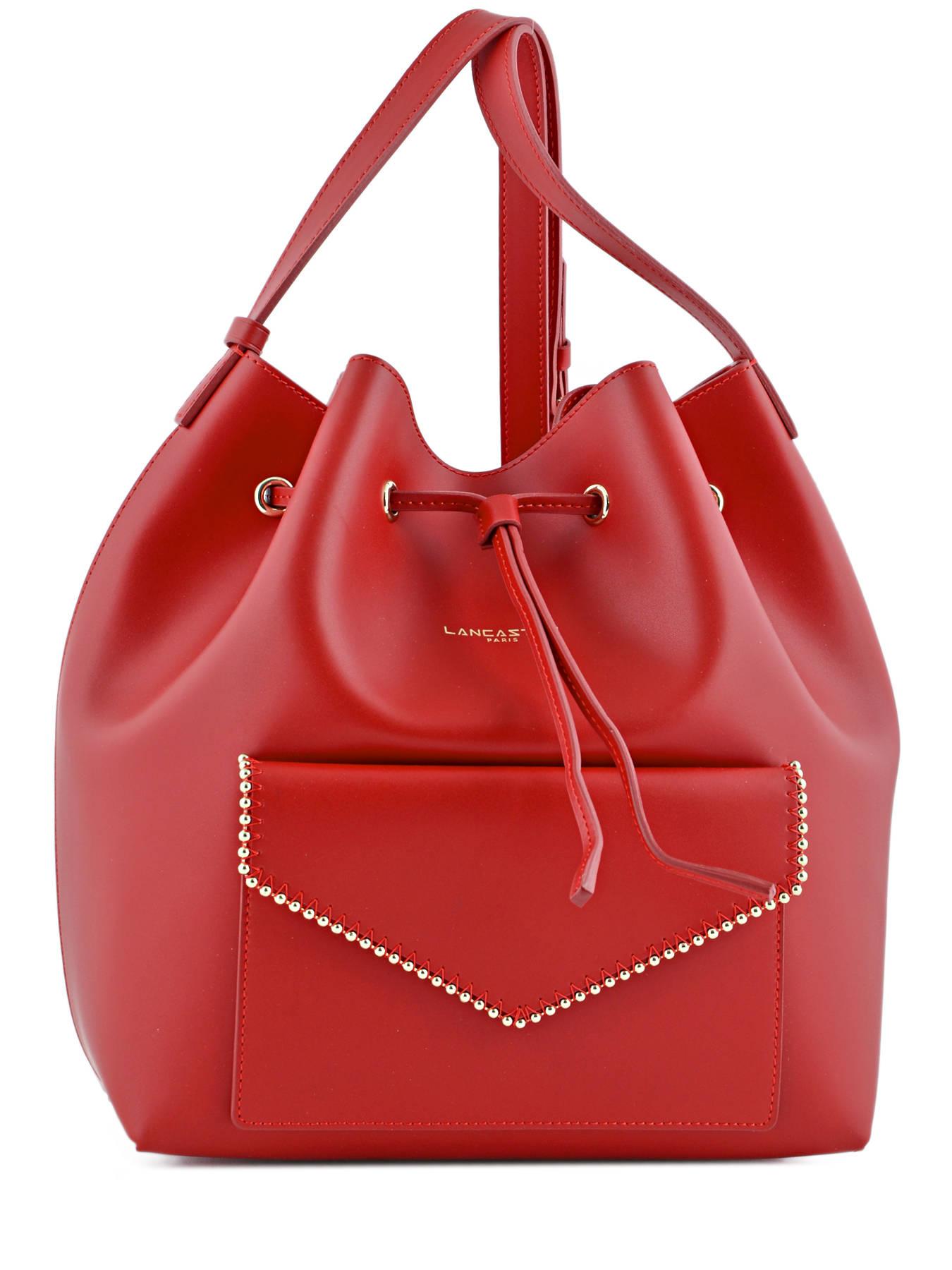 sac lancaster pearl rouge en vente au meilleur prix. Black Bedroom Furniture Sets. Home Design Ideas