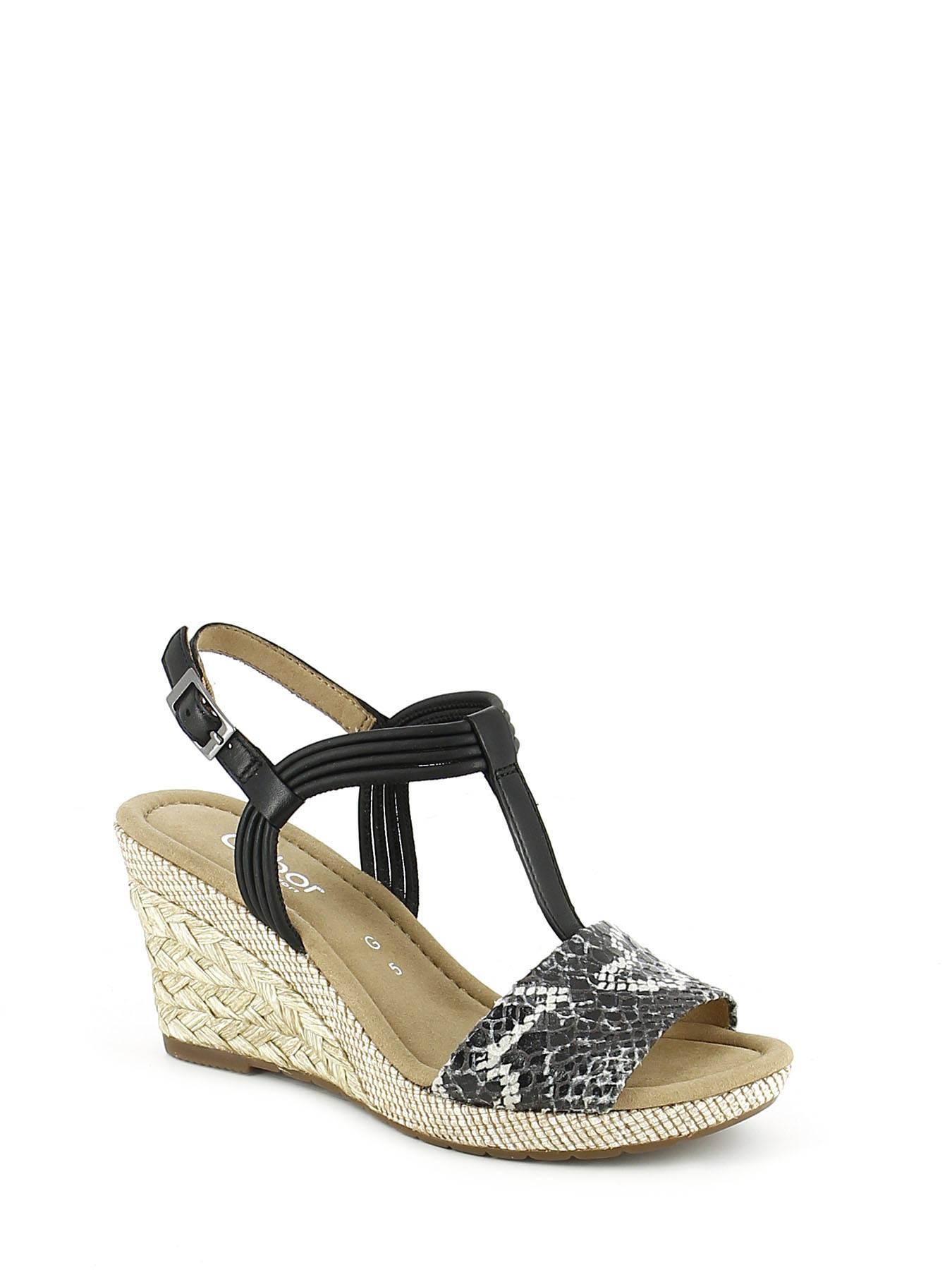 Sandales Avec Ceinture Noire Gabor P3KfibE
