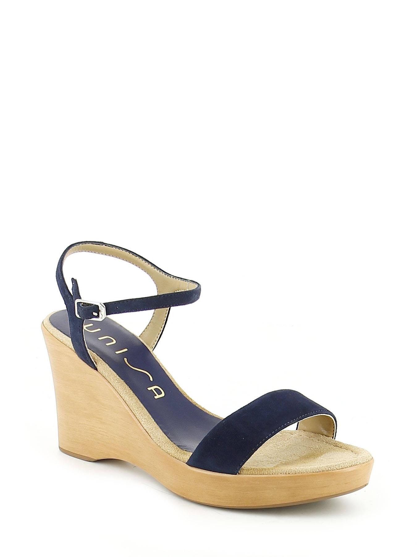 1d05057fcb2804 ... Sandals Wedge Heel Unisa Blue sandales   nu-pieds RITA-KS ...