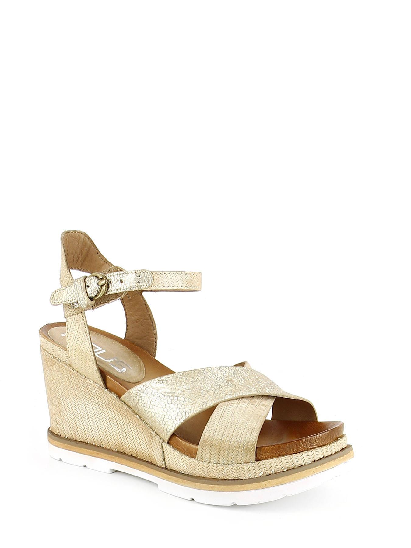 9ea0a0de58dc ... Sandals Wedge Heel Mjus Gold sandales   nu-pieds 872007 ...
