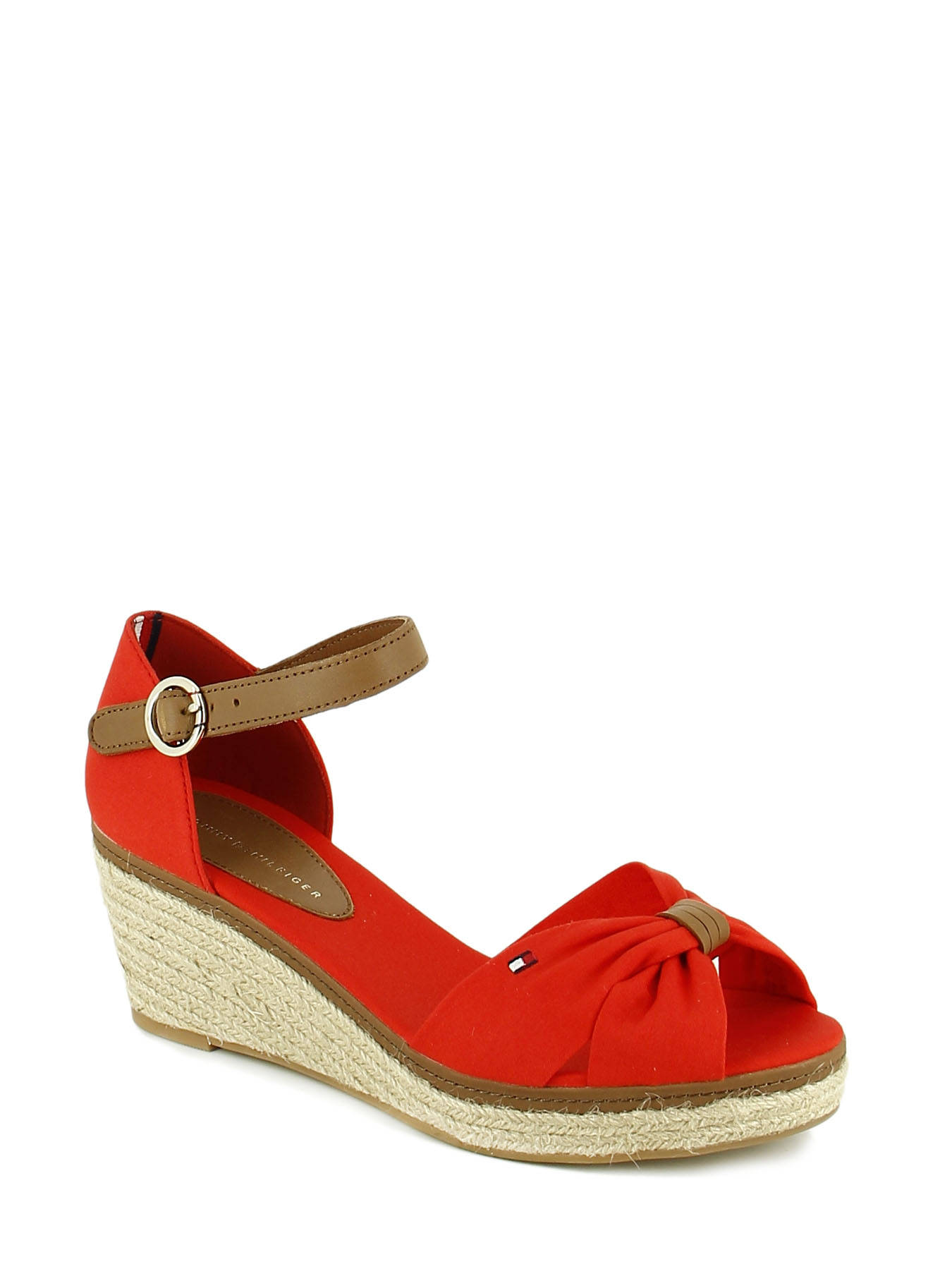 ... Sandals Wedge Heel Tommy hilfiger Red sandales / nu-pieds ELBA40D ...