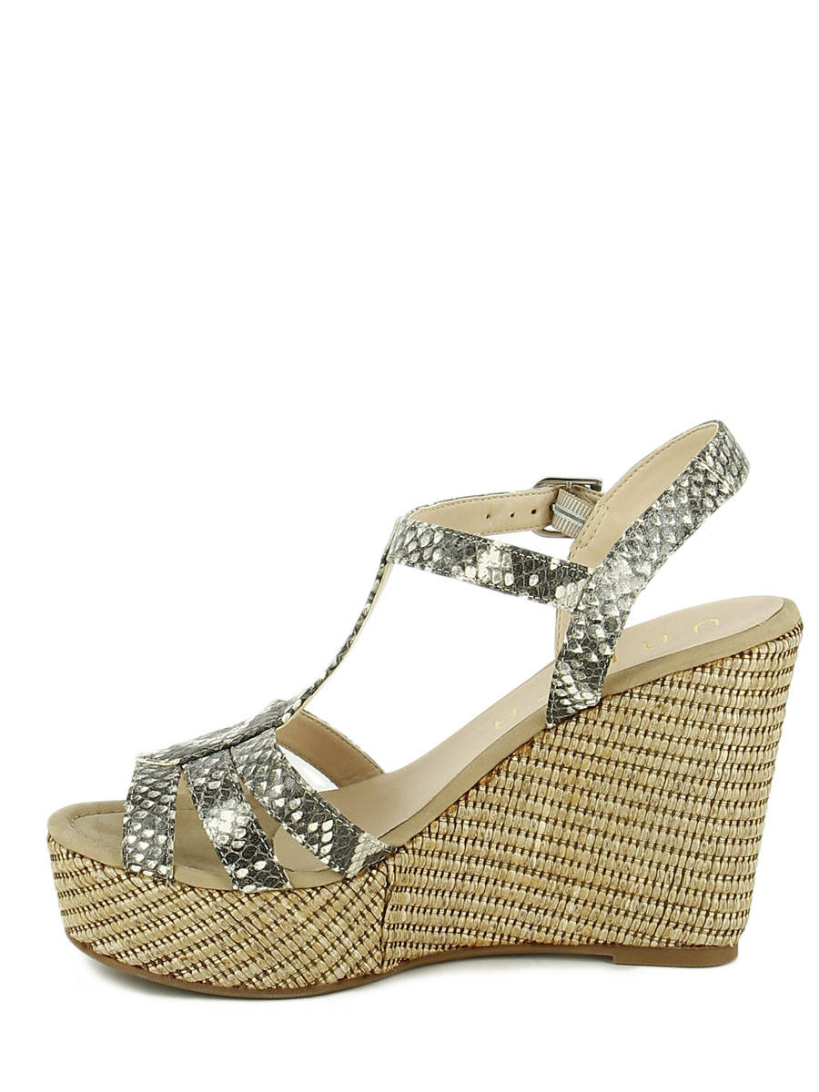 aad6698dc ... Sandals Wedge Heel Unisa Beige sandales   nu-pieds MACA other view 2 ...