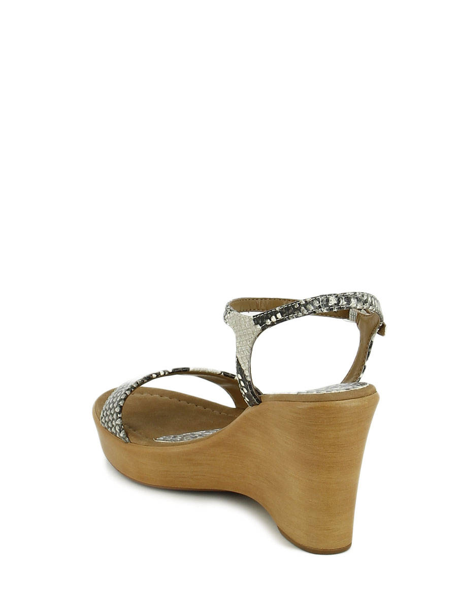 a929b5c6c ... Sandals Wedge Heel Unisa Beige sandales   nu-pieds RITA other view 3 ...