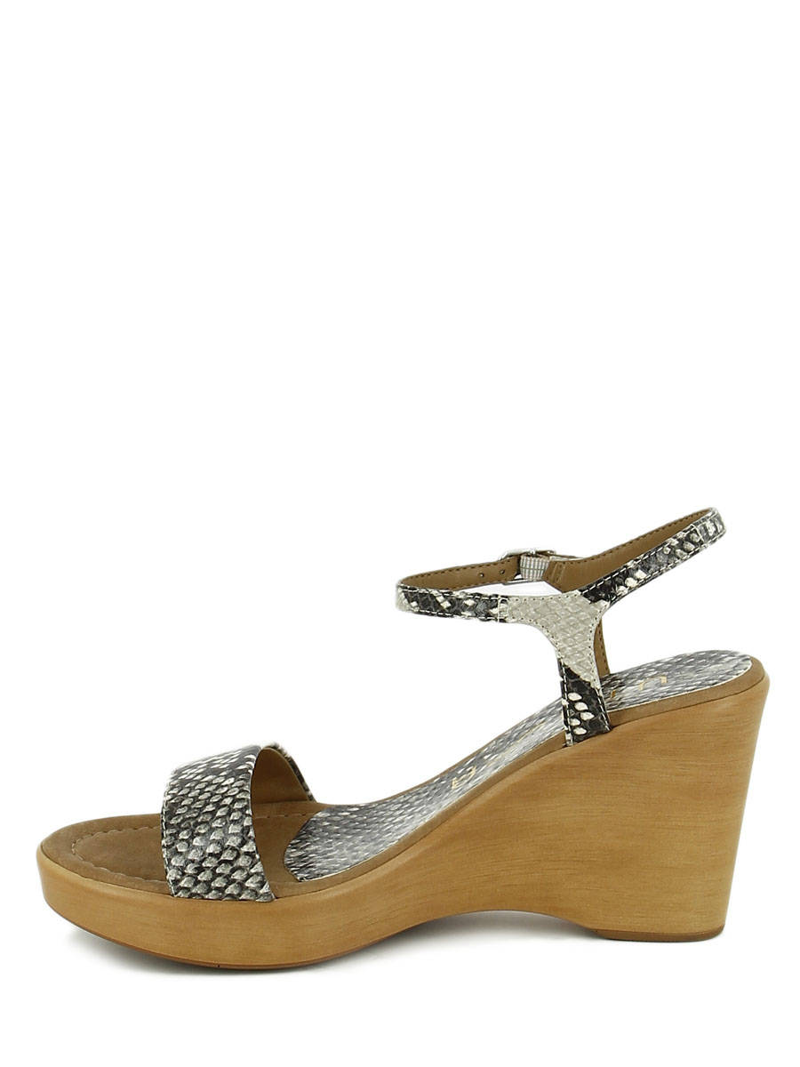 ae8eee9ec ... Sandals Wedge Heel Unisa Beige sandales   nu-pieds RITA other view 2 ...