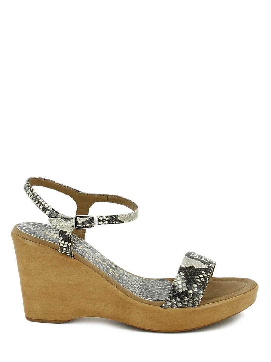 79d062799 ... Sandals Wedge Heel Unisa Beige sandales   nu-pieds RITA other view 1 ...