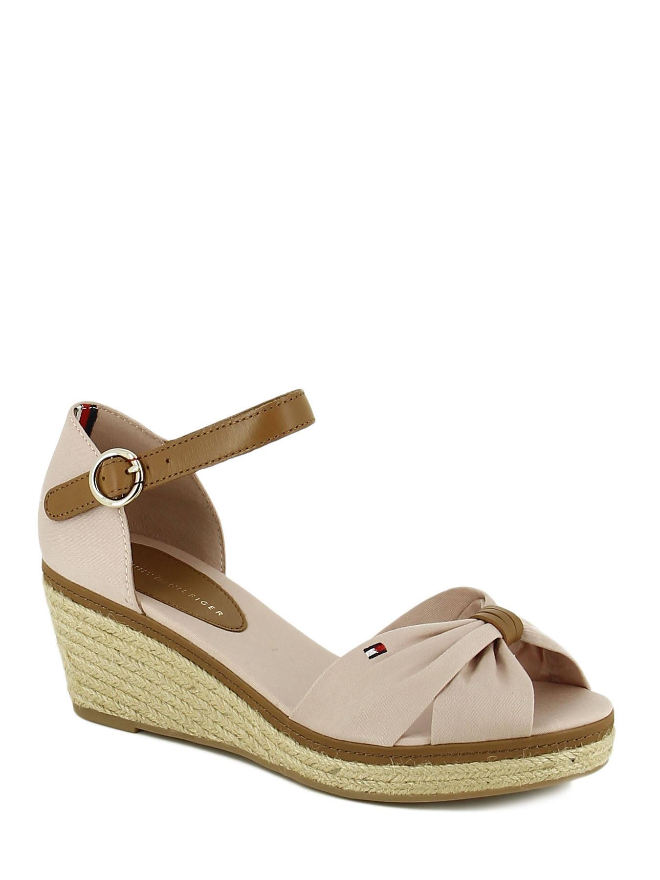 a86f0e64c65b7b ... Sandals Wedge Heel Tommy hilfiger Pink sandales   nu-pieds ELBA40D ...