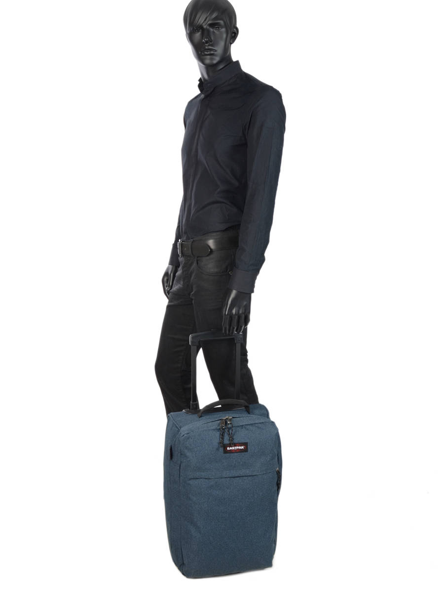 bagages pas chers eastpak pbg authentic luggage double denim en vente au meilleur prix. Black Bedroom Furniture Sets. Home Design Ideas
