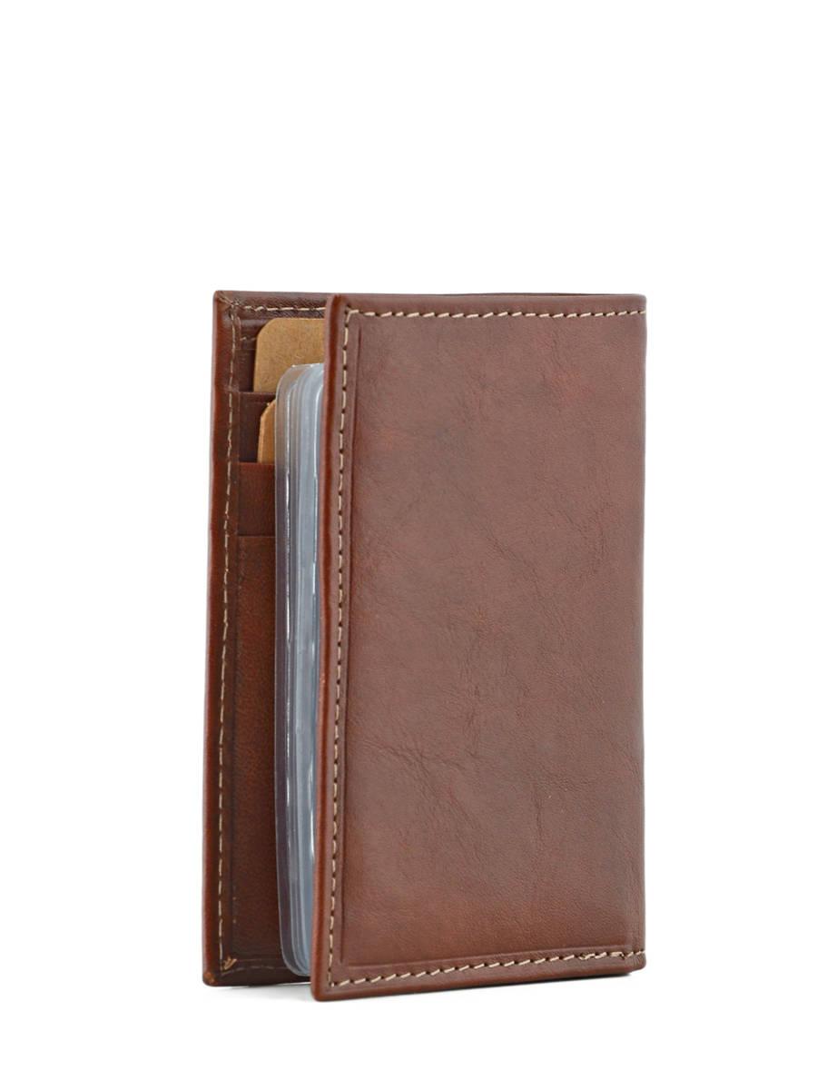 Porte cartes katana vachette gras marron moyen en vente au for Porte secondaire