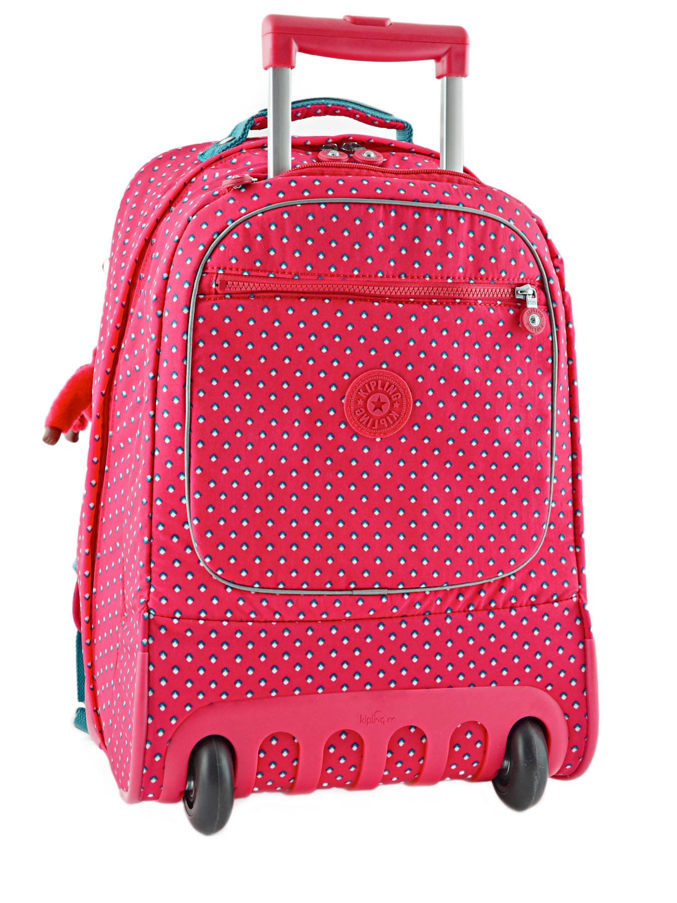 sac a dos roulettes kipling back to school pink summer pop en vente au meilleur prix. Black Bedroom Furniture Sets. Home Design Ideas