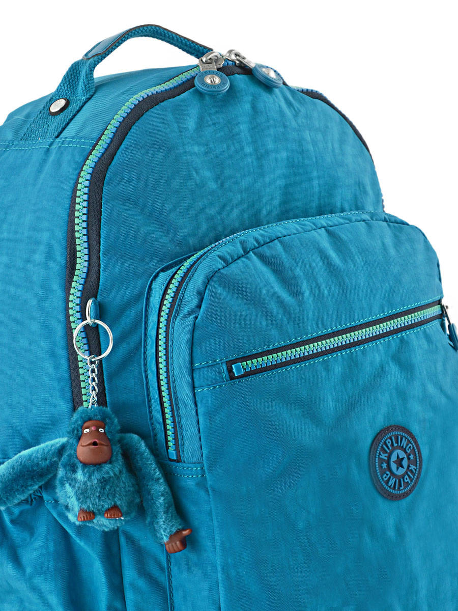 1c2a5b51d33 ... Backpack 1 Compartment + 15'' Pc Kipling Blue back to school 21305  other view ...