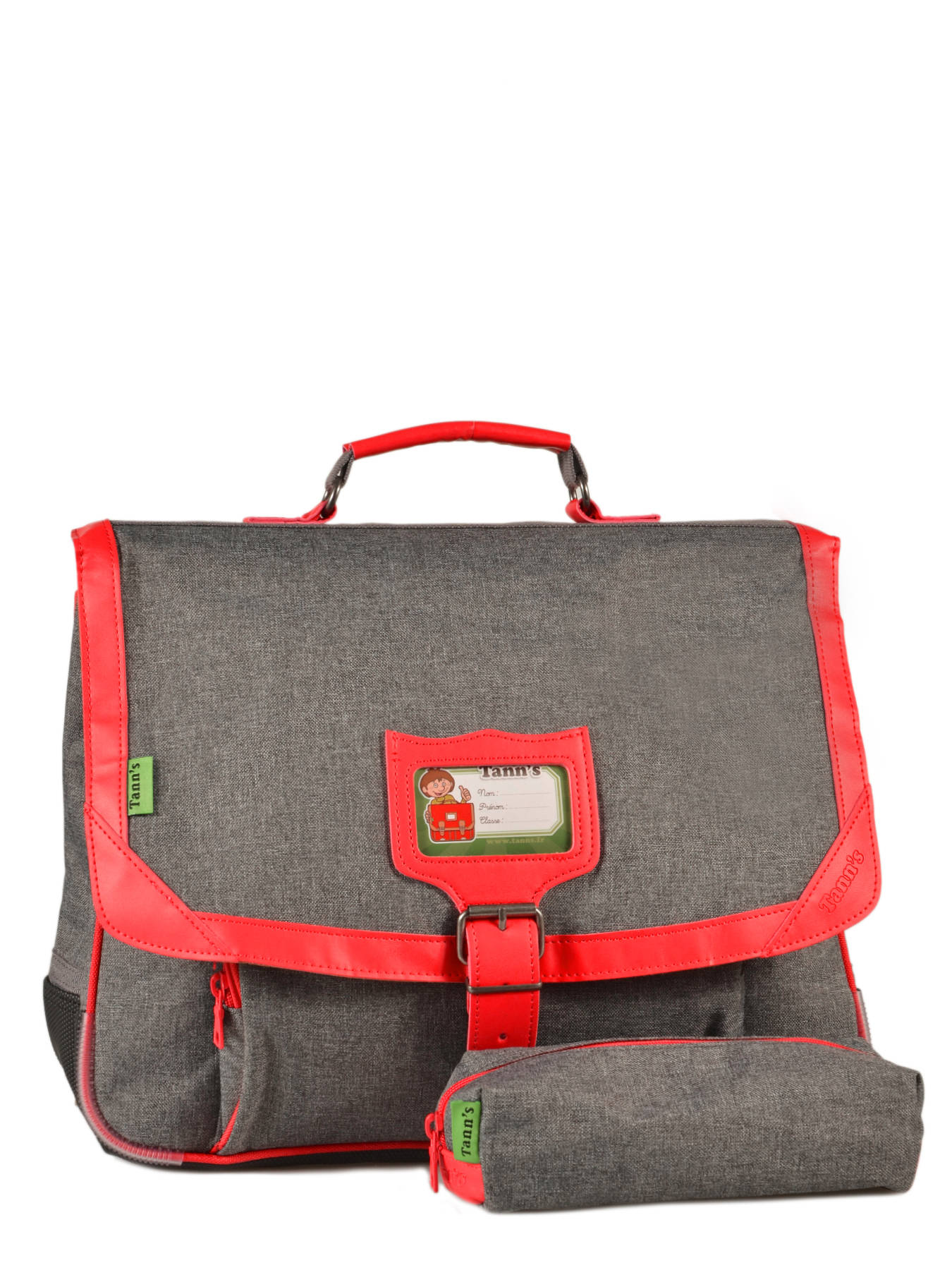 Cartable Tann's Chiné 38 cm CP/CE1 Chiné/Bleu Rouge gris PJBInEd