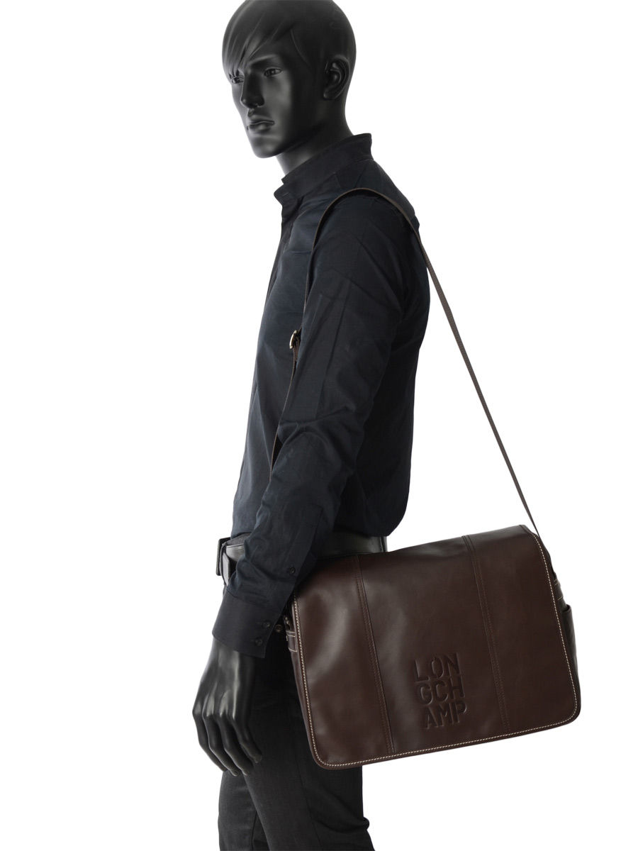aee3c43ec8 ... Longchamp Cavalier Briefcase Brown ...
