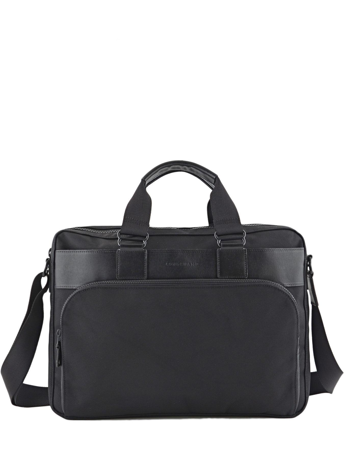 Longchamp NYLTEC Briefcase Black