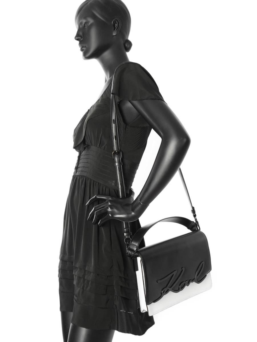 Signature Studs shoulder bag - Black Karl Lagerfeld pxoXKtC3rY