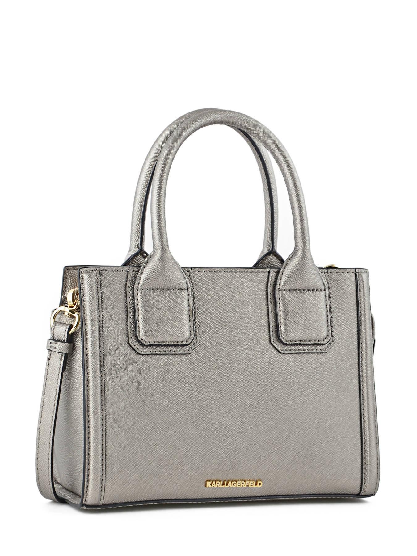 Top Handle Klassik Leather Karl lagerfeld Gray klassik 66KW3006