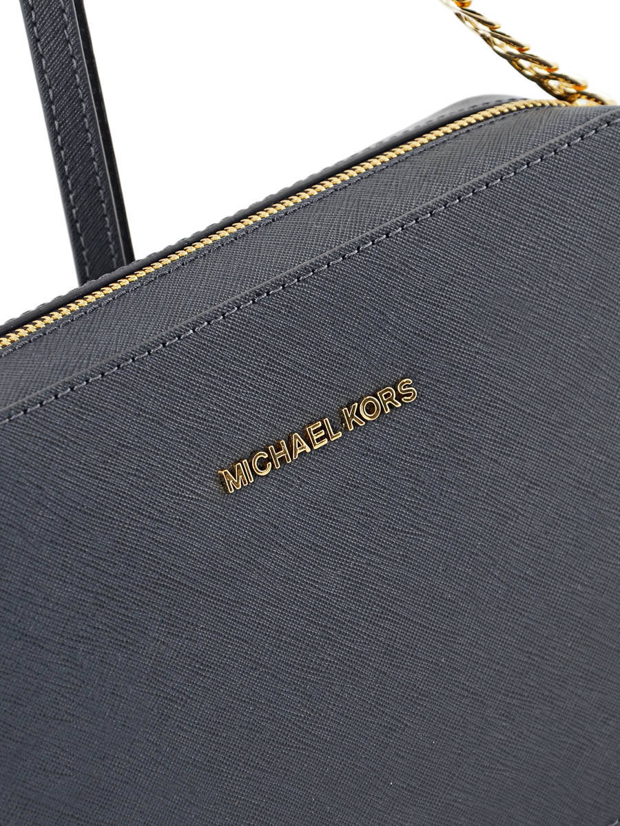 76f01d3f251b ... Crossbody Bag Jet Set Travel Leather Michael kors Blue crossbodies  S4GTVC3L other view 1 ...