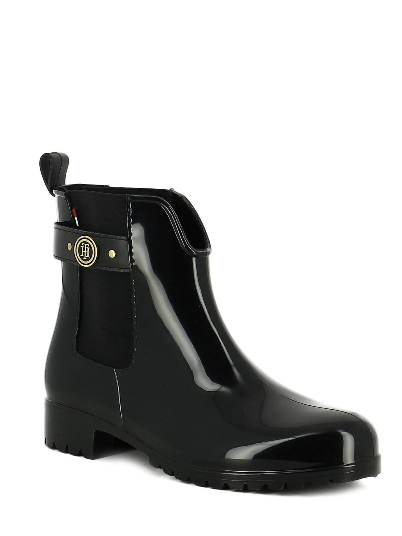 boots tommy hilfiger black en vente au meilleur prix. Black Bedroom Furniture Sets. Home Design Ideas