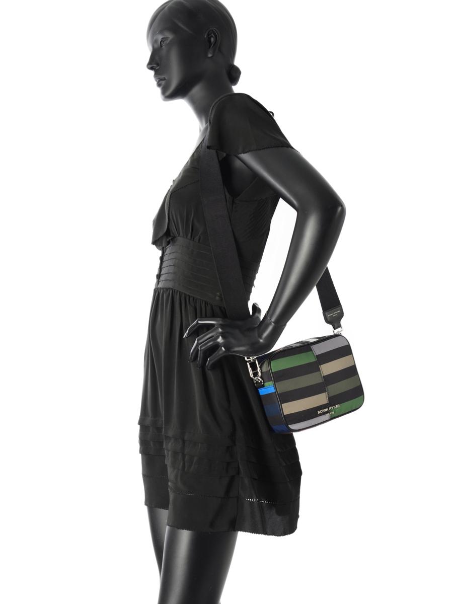 Sac Bandouliere Forever Nylon Sonia rykiel Multicolore forever nylon 2164-38-vue-porte