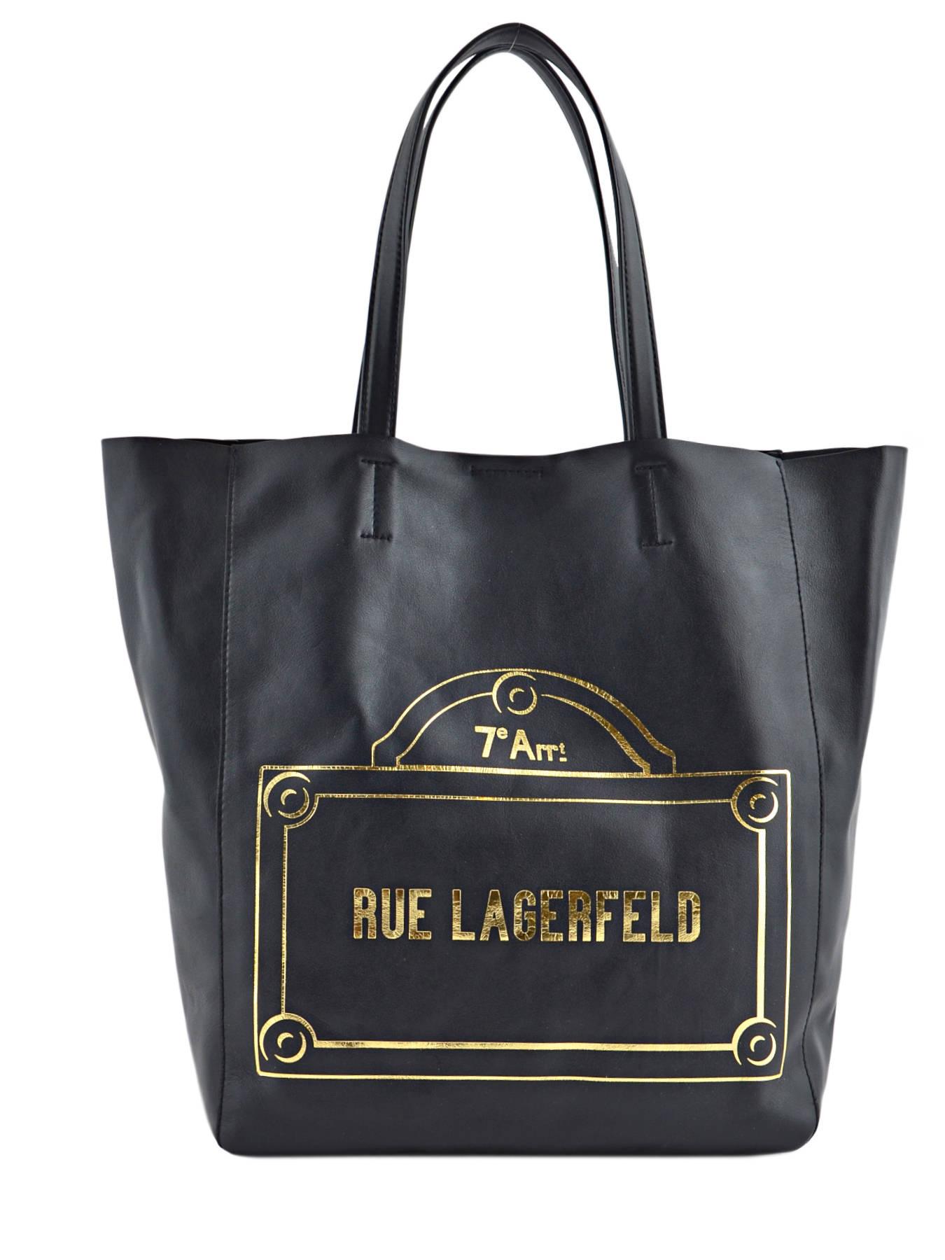 Karl Lagerfeld K/Paris Sac cabas noir EDt8au