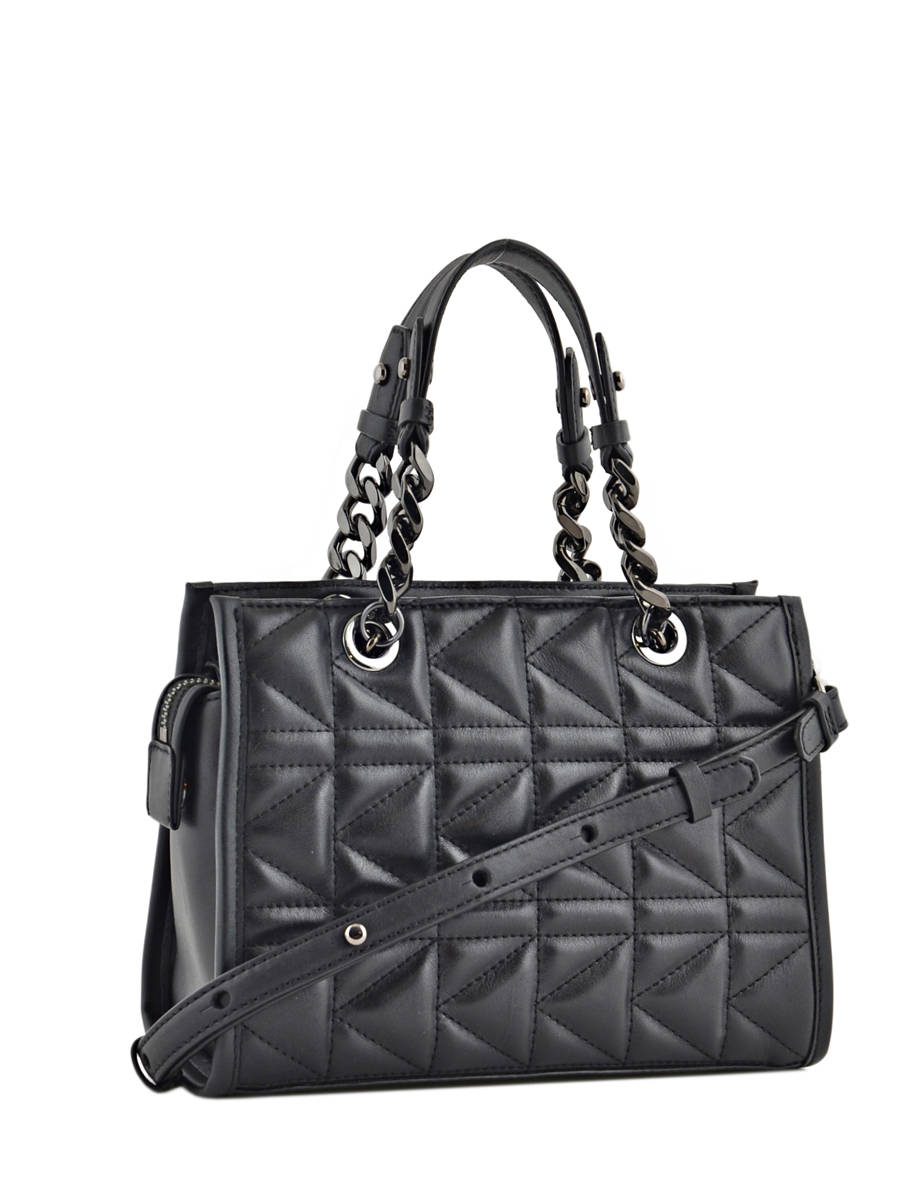 Shoulder Bag Karl Lagerfeld Black Kuilted 76kw3068 Other View 3