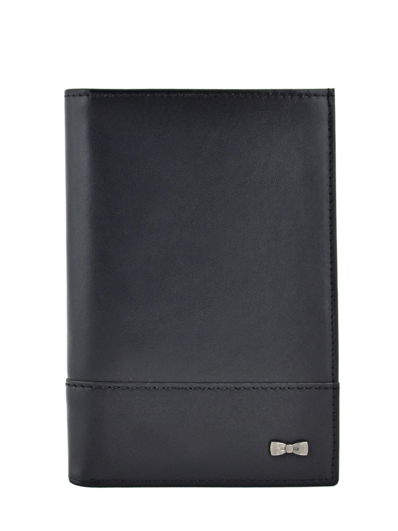Portefeuille en cuir noir QTsUi