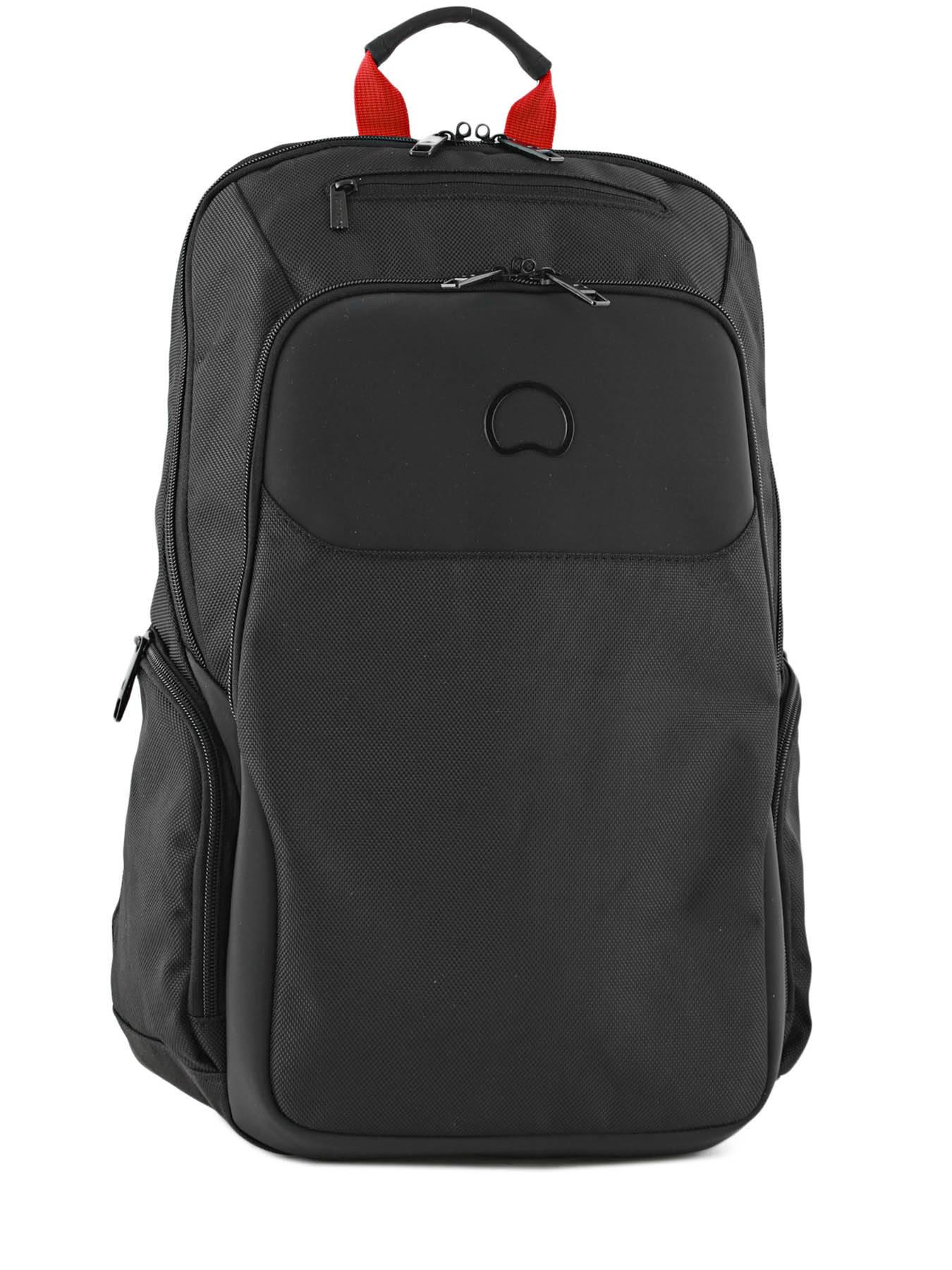 712d6ce47d7e ... Backpack 2 Compartments Delsey Black parvis + 3944603 ...