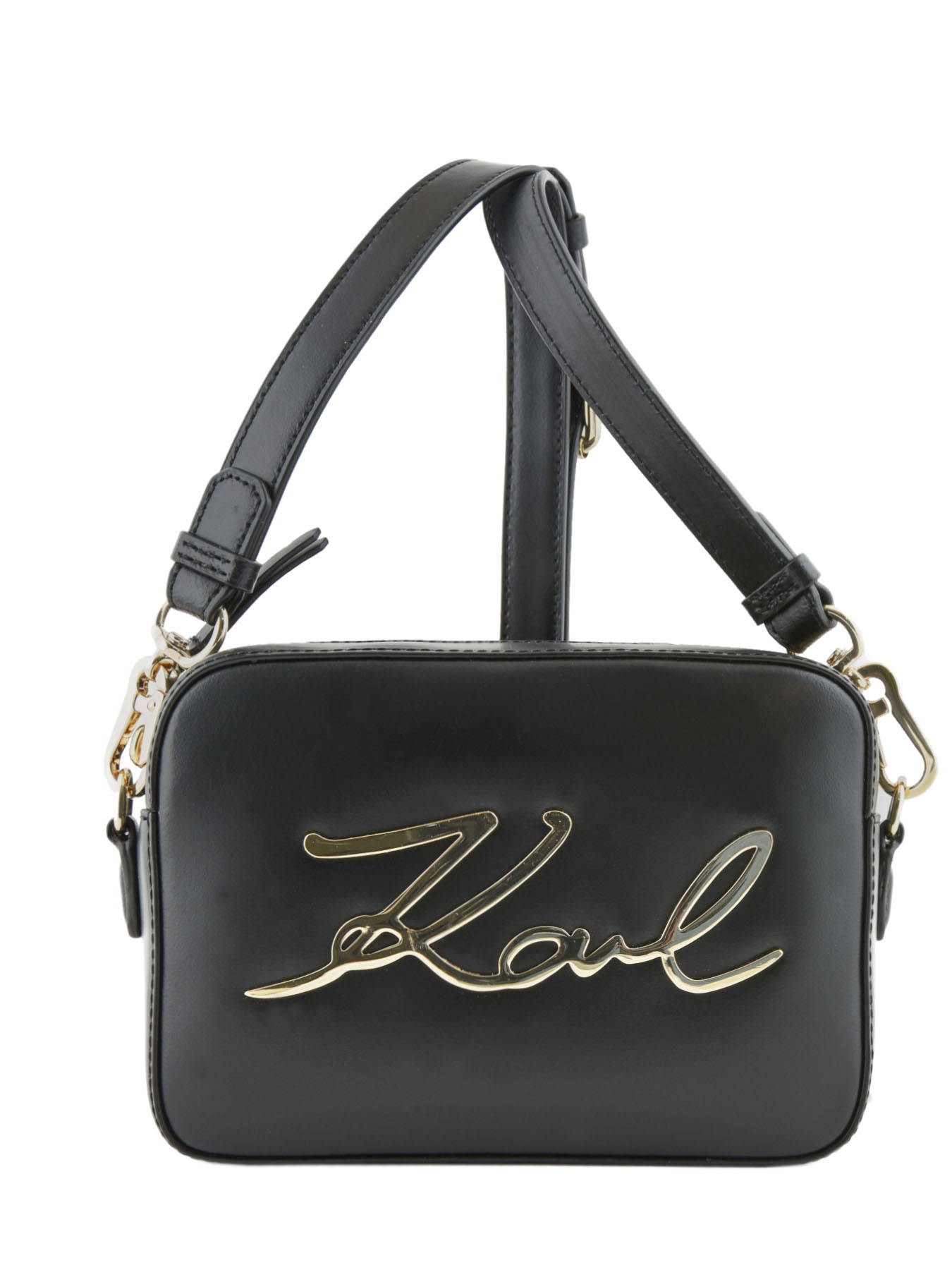 a2ec6ff820 ... Crossbody Bag K Signature Leather Karl lagerfeld Black k signature  81KW3050 ...