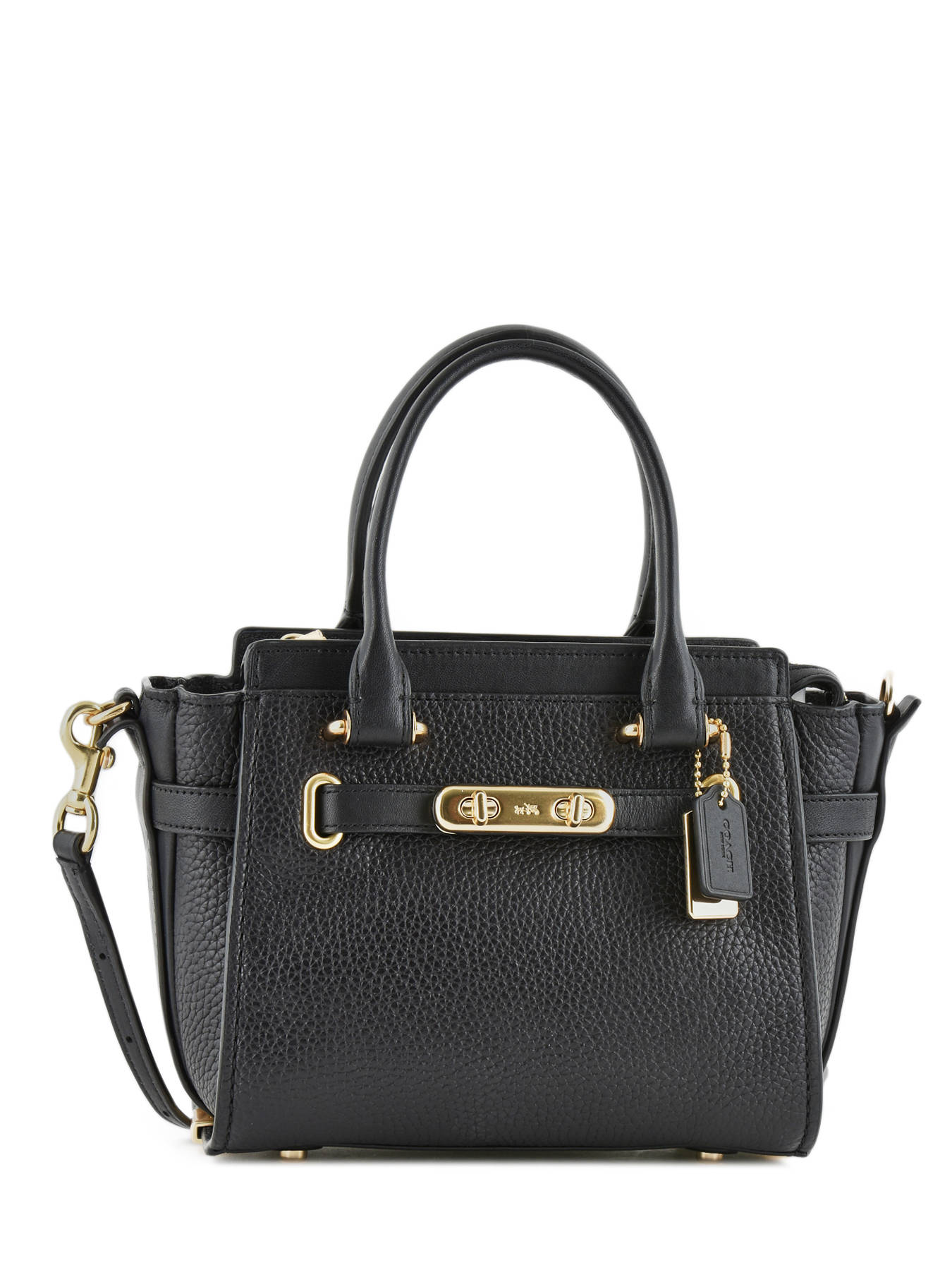 Crossbody Bag Swagger 27 Leather Coach Black 87299