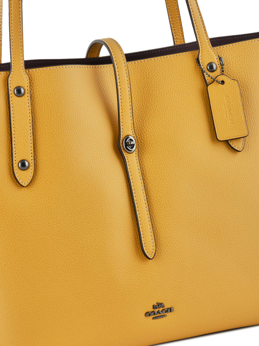 Shoulder Bag Market Tote Leather Coach Yellow 58849 Other View 1