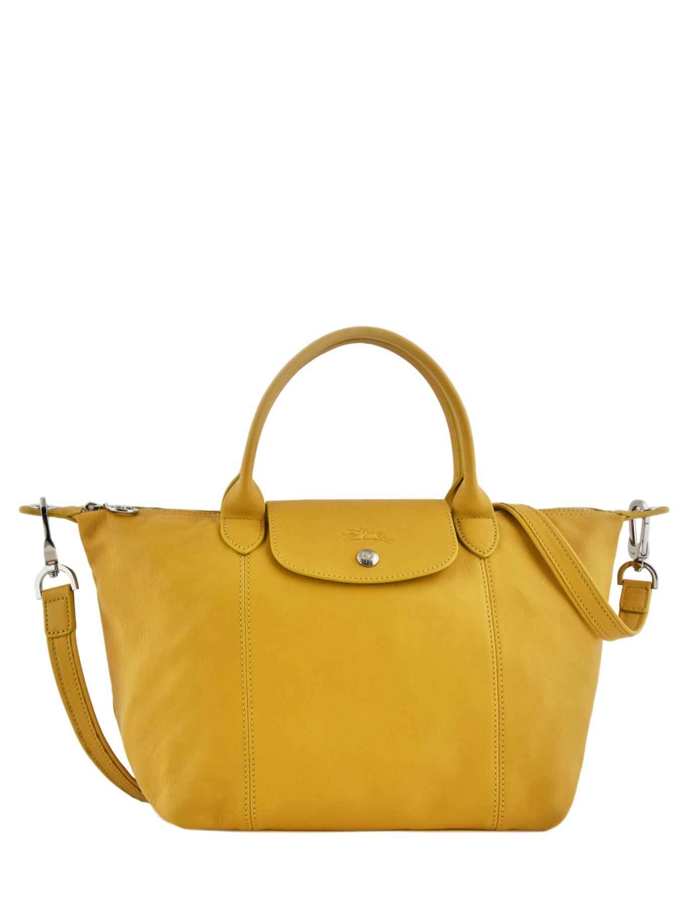 longchamp handbag le pliage cuir best prices. Black Bedroom Furniture Sets. Home Design Ideas