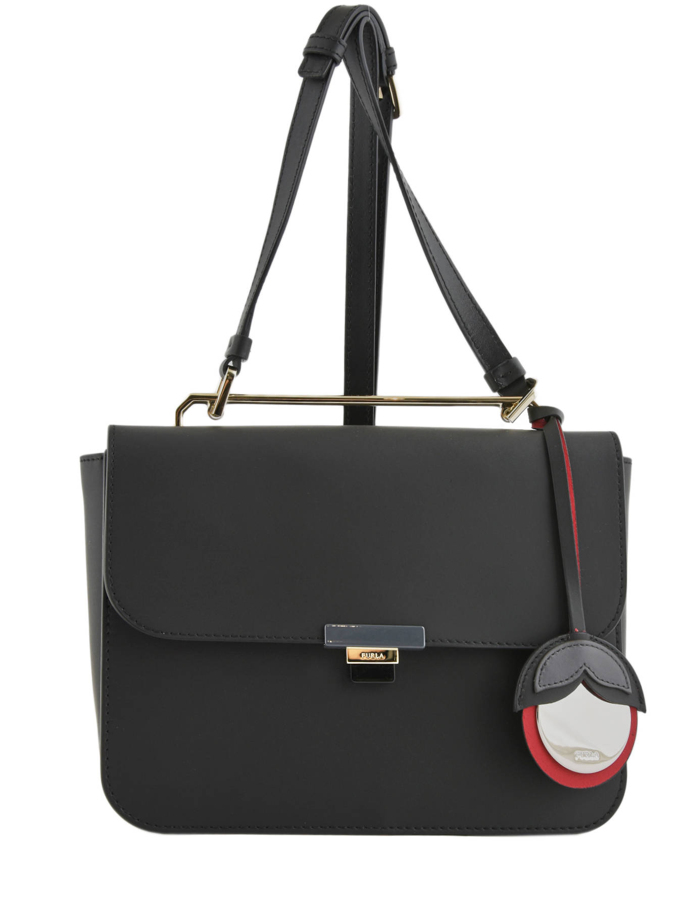 Shoulder Bag Elisir Leather Furla Black Eli Bmn7