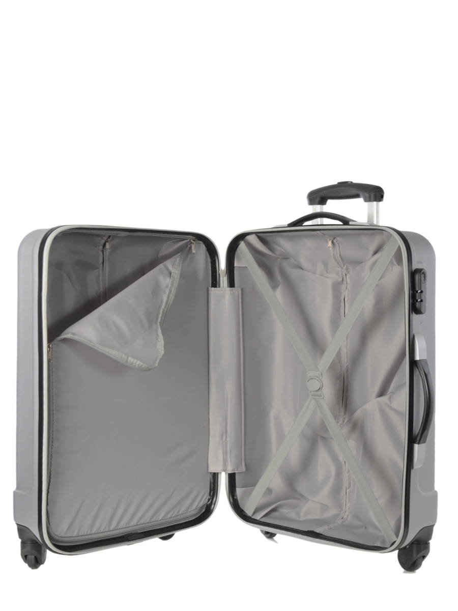 valise cabine travel barcelone silver en vente au meilleur. Black Bedroom Furniture Sets. Home Design Ideas