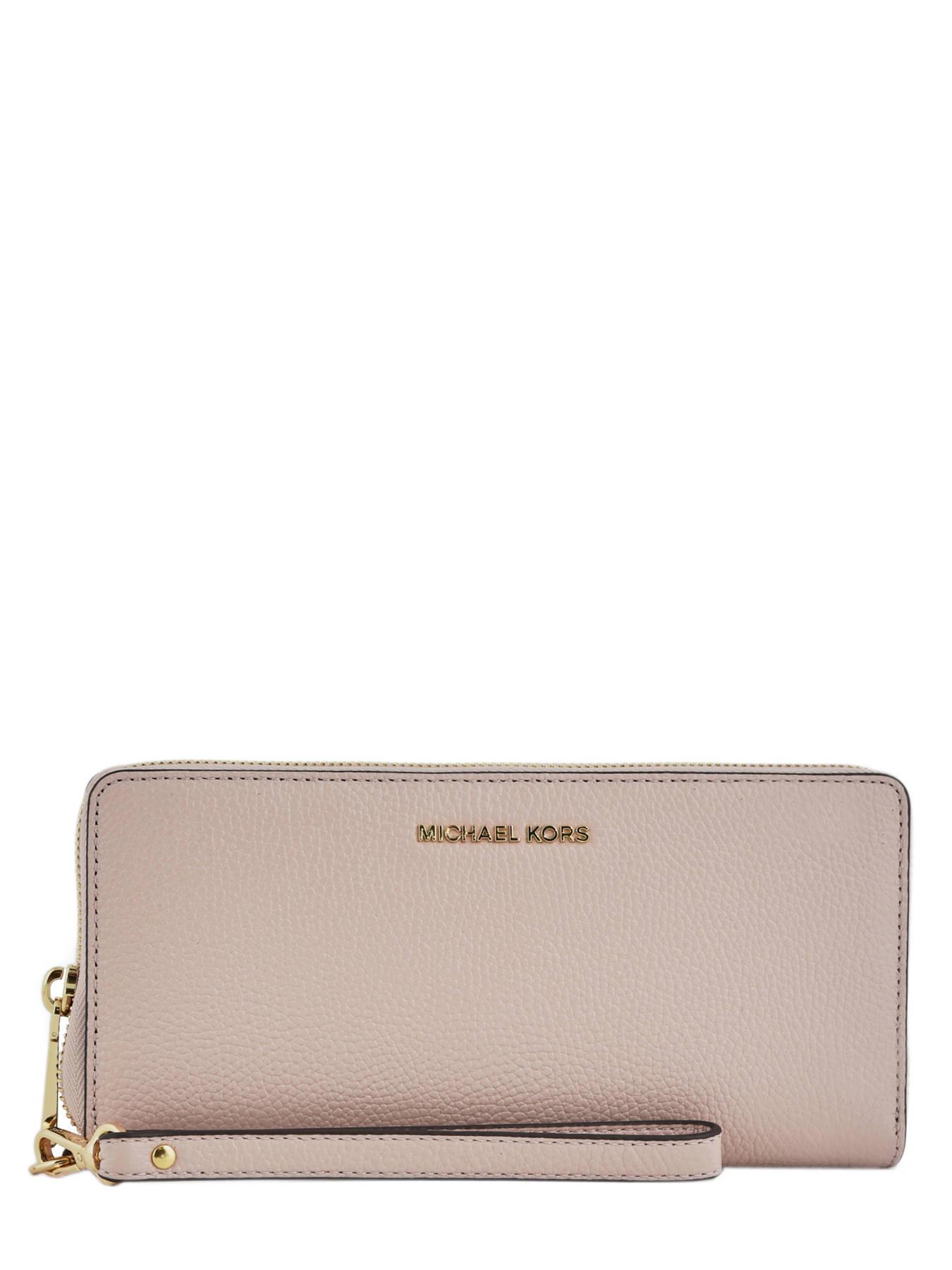ab440860c4a3 ... Continental Wallet Leather Michael kors Pink money pieces F6GM9E9L ...